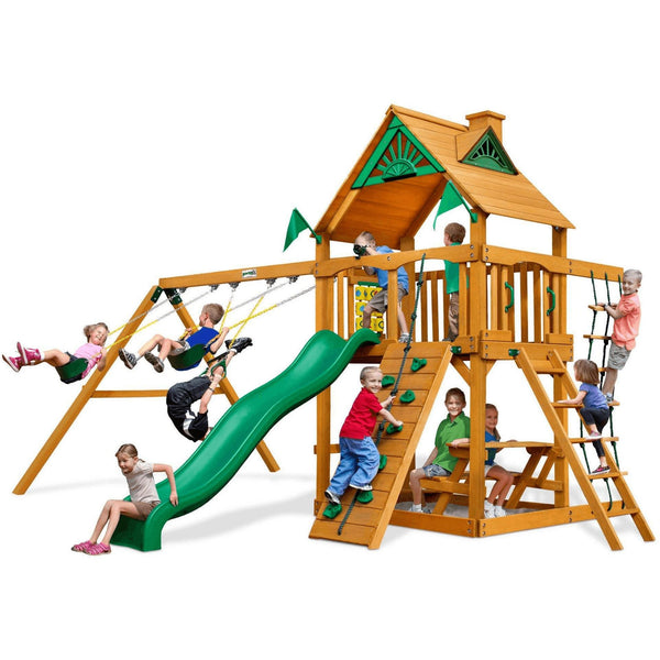 Chateau Swing Set - Optional Treehouse and Fort - Various Roofs-Gorilla Playsets-YardKid