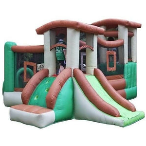 Clubhouse Climber Bounce House with Slide