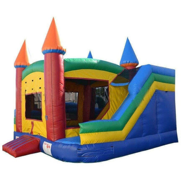 Commercial 360 Bounce House, Obstacle Course and Slide Combo-Happy Jump-YardKid