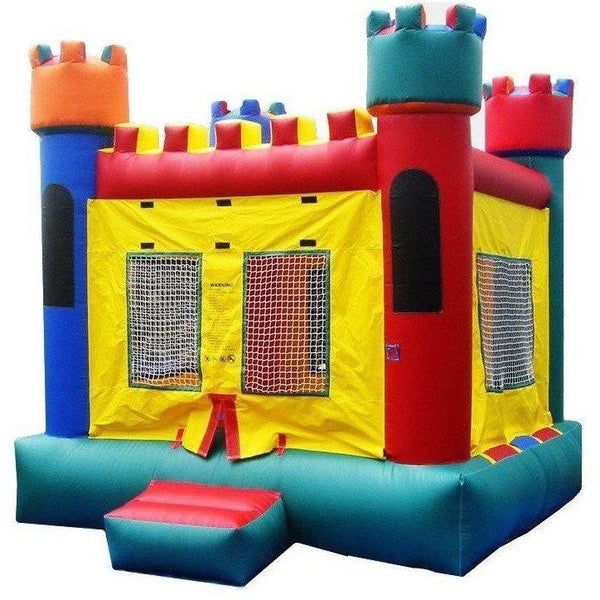 Commercial Castle 1 Bounce House-Happy Jump-YardKid