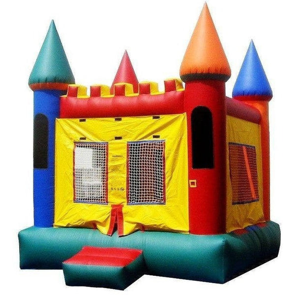 Commercial Castle 2 Bounce House-Happy Jump-YardKid