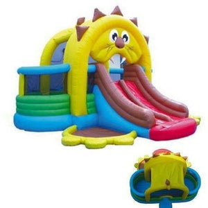 Commercial Lion's Den Bounce House and Slide