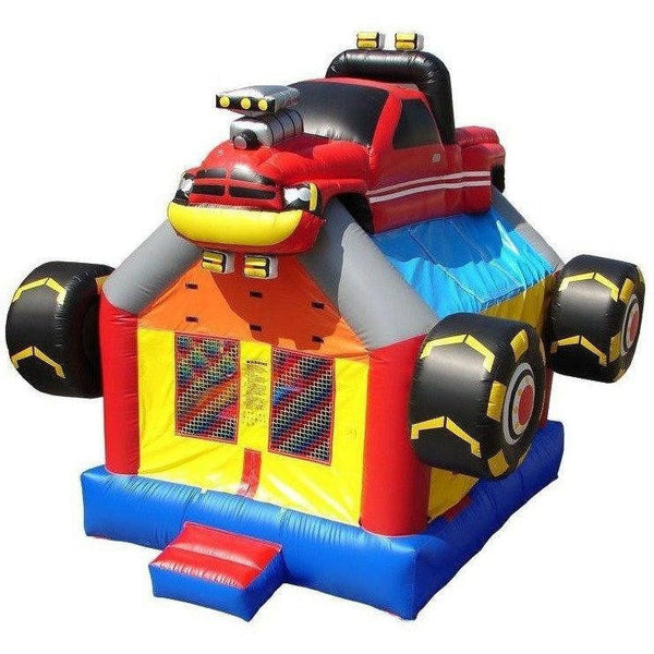 Commercial Monster Truck Bounce House-Happy Jump-YardKid
