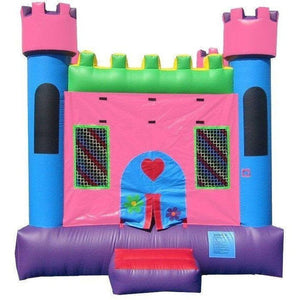 Commercial Pink Castle 1 Bounce House