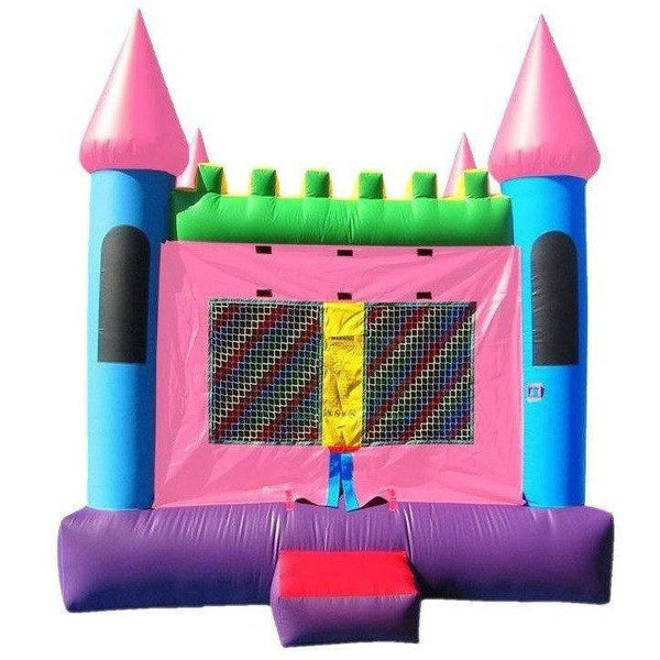 Commercial Pink Castle 2 Bounce House-Happy Jump-YardKid