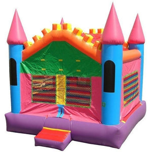 Commercial Pink Castle 3 Bounce House