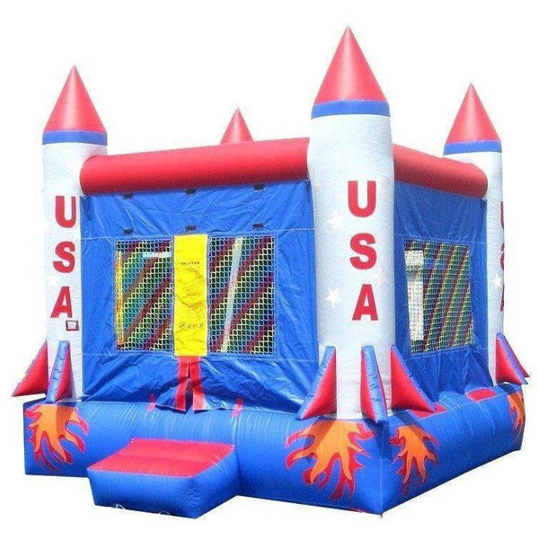 Commercial Rocket Bounce House-Happy Jump-YardKid