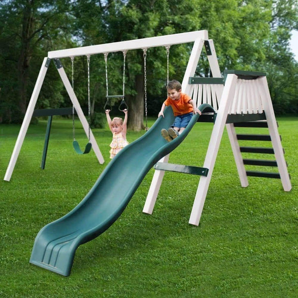 Congo Swing'N Monkey 3 Position Swing Set Optional Deck - Various Colors-KidWise-YardKid