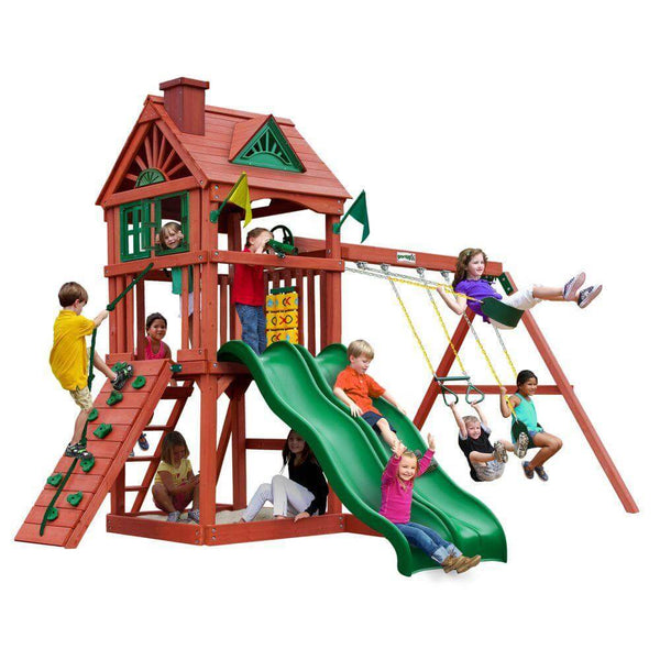 Double Down Swing Set-Gorilla Playsets-YardKid
