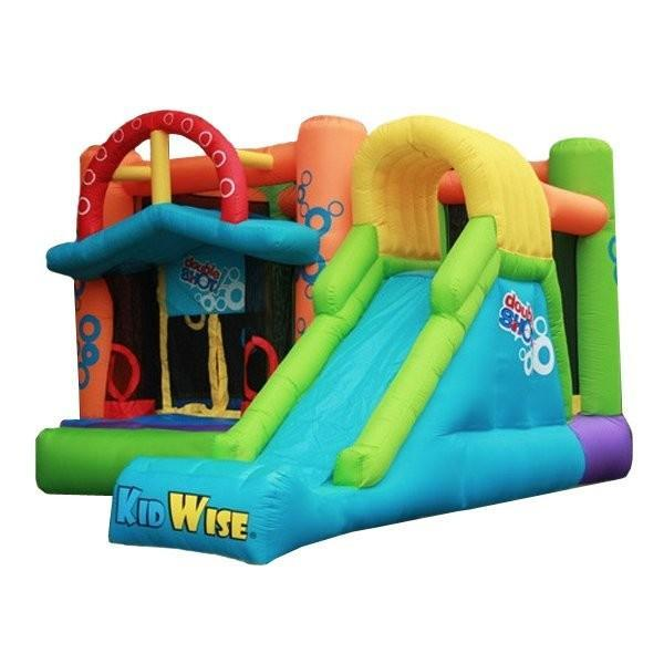 Double Shot Bounce House with Slide-KidWise-YardKid