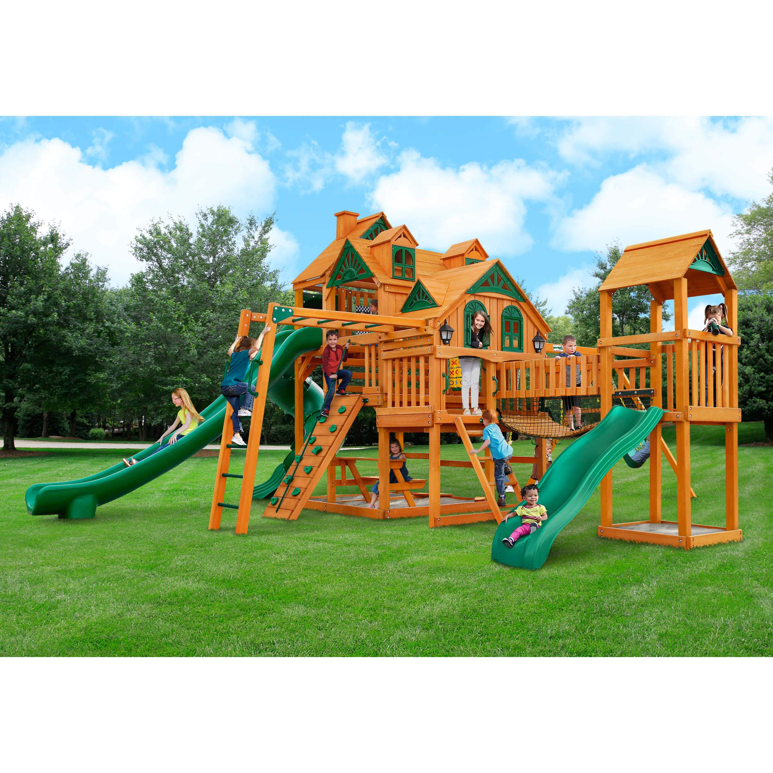 empire extreme swing set by gorilla playsets 870780004921 u2013 yardkid