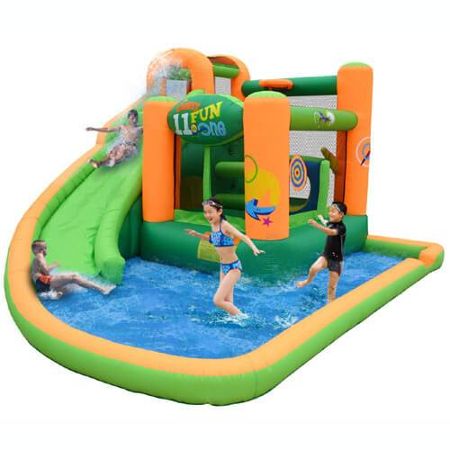 Endless Fun 11 in 1 Inflatable Bounce House and Water Slide-KidWise-YardKid