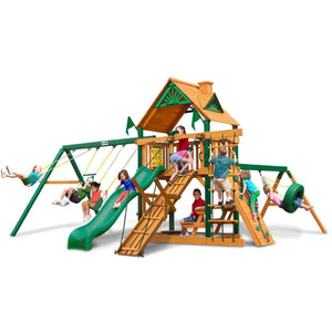 Frontier Swing Set - Optional Treehouse and Fort - Various Roofs