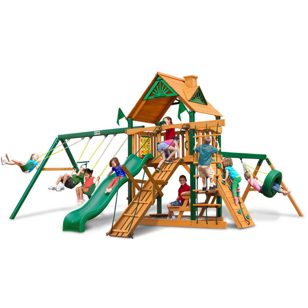 Frontier Swing Set - Optional Treehouse and Fort - Various Roofs-Gorilla Playsets-YardKid