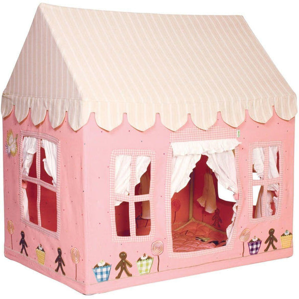 Gingerbread Cottage Playhouse-Win Green-YardKid