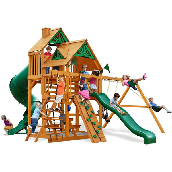 Great Skye I Swing Set - Optional Treehouse - Various Roofs-Gorilla Playsets-YardKid