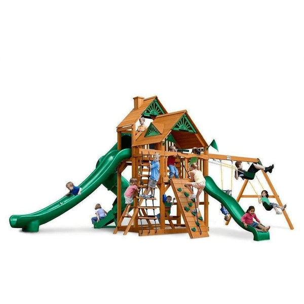 Great Skye II Swing Set - Optional Treehouse - Various Roofs-Gorilla Playsets-YardKid