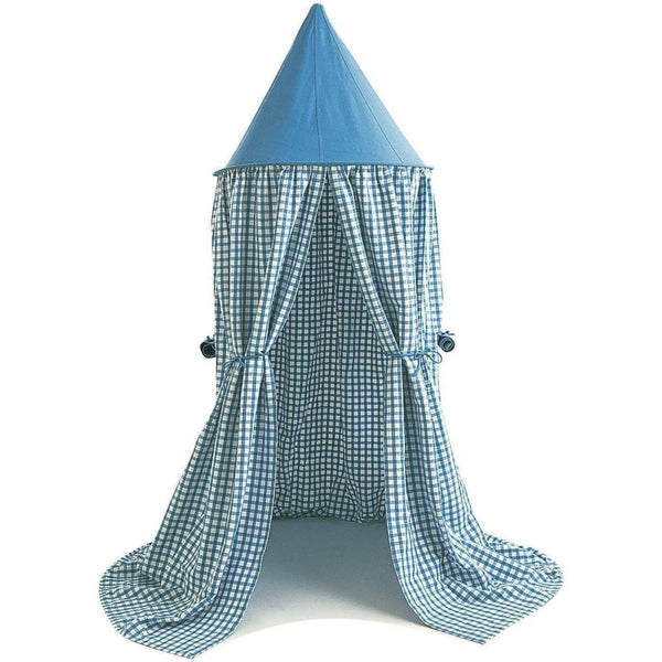 Hanging Tent - Sky Blue Gingham-Win Green-YardKid