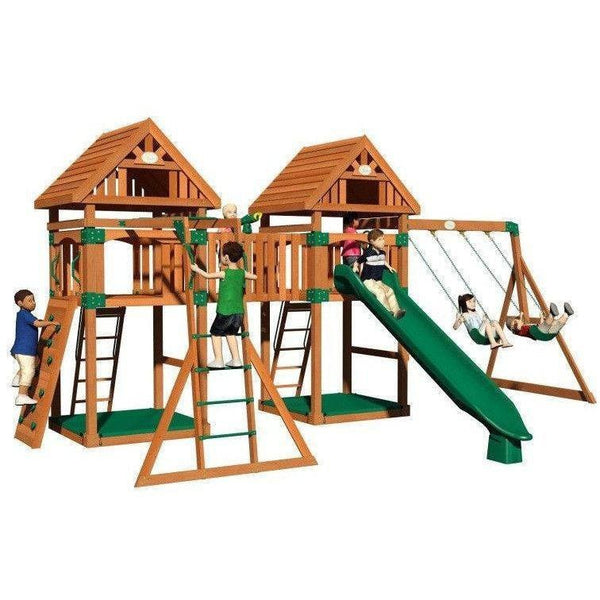 Kings Peak Wooden Swing Set-Backyard Discovery-YardKid