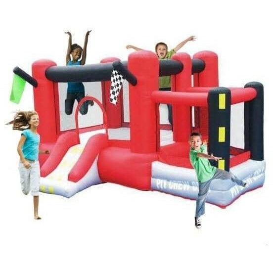 Little Raceway Bounce House with Slide-KidWise-YardKid