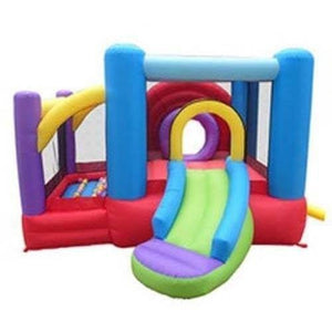Lucky Rainbow Bounce House with Slide