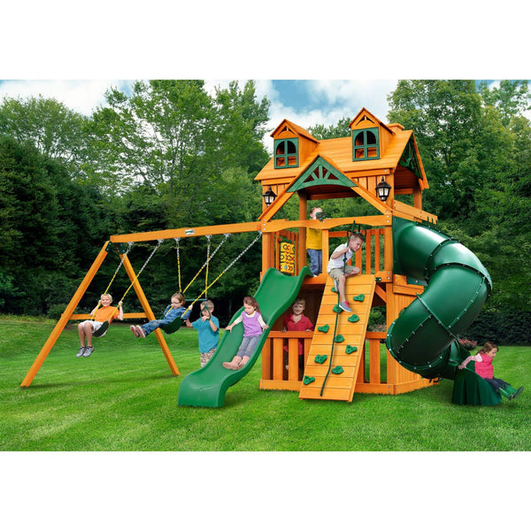 Malibu Clubhouse Extreme Swing Set-Gorilla Playsets-YardKid