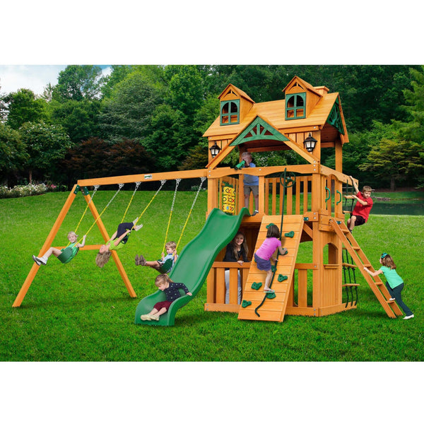 Malibu Clubhouse Swing Set-Gorilla Playsets-YardKid