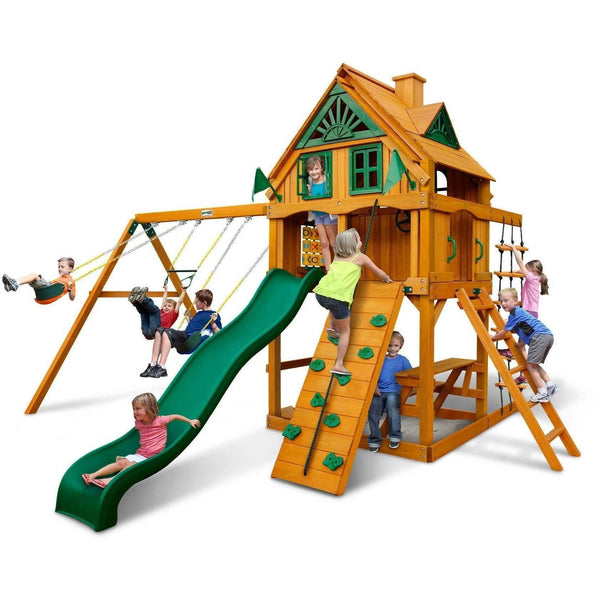 Mountain Ridge Swing Set-Gorilla Playsets-YardKid