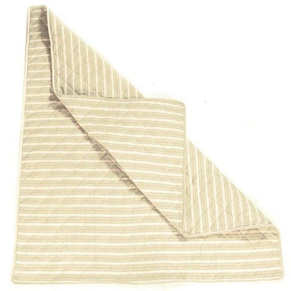 Multi-Stripe Wigwam Floor Quilt - Natural-Win Green-YardKid