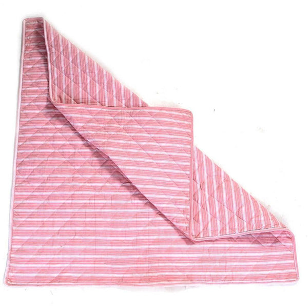 Multi-Stripe Wigwam Floor Quilt - Rose-Win Green-YardKid