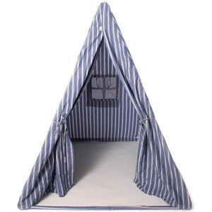 Multi-Stripe Wigwam Tent - Navy