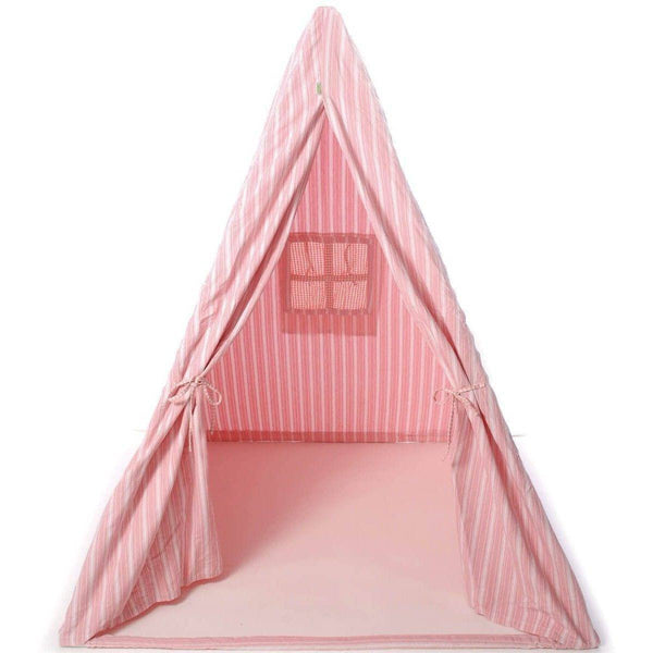 Multi-Stripe Wigwam Tent - Rose-Win Green-YardKid