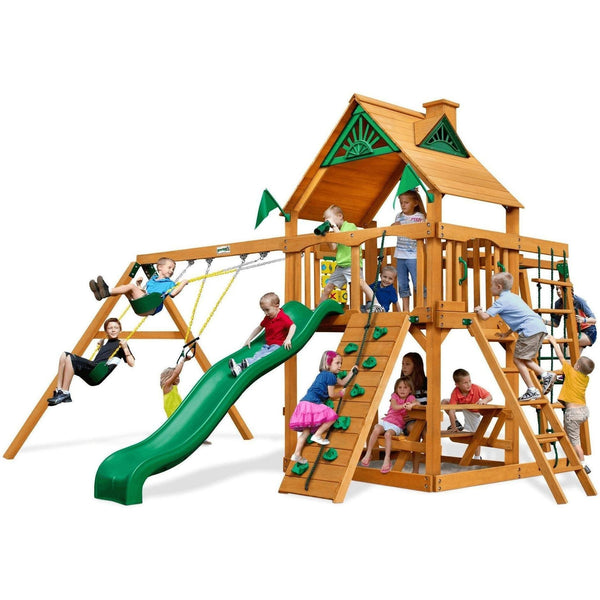 Navigator Swing Set - Optional Treehouse and Fort - Various Roofs-Gorilla Playsets-YardKid