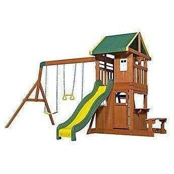 Oakmont Wooden Swing Set-Backyard Discovery-YardKid