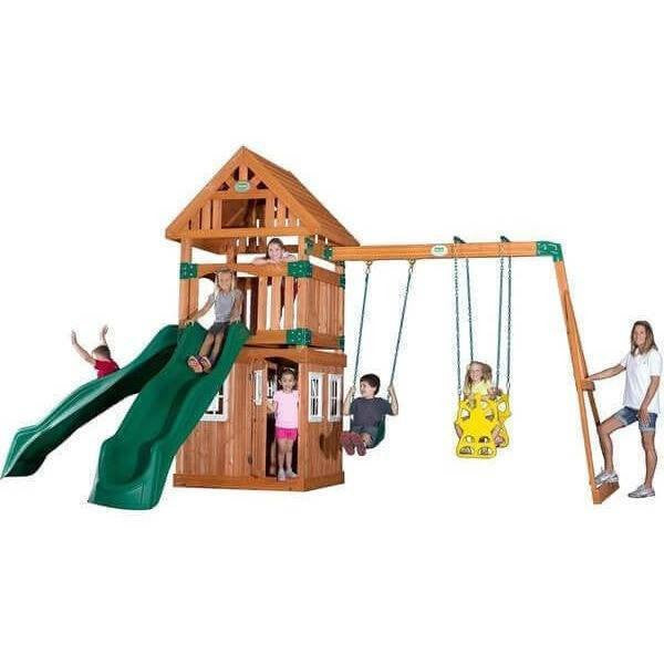 Outing Wooden Swing Set-Backyard Discovery-YardKid