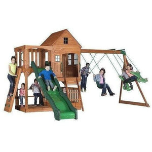 Pacific View Wooden Swing Set