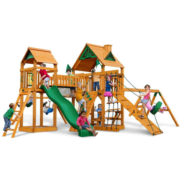 Pioneer Peak Swing Set - Optional Treehouse and Fort - Various Roofs-Gorilla Playsets-YardKid