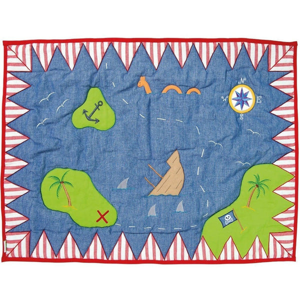 Pirate Shack Floor Quilt-Win Green-YardKid