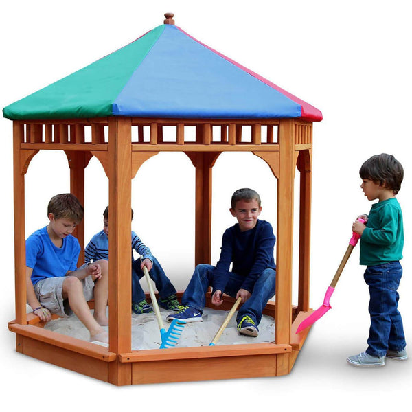 Play-Zee-Bo Covered Sandbox-Gorilla Playsets-YardKid
