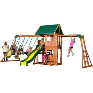 Prairie Ridge Wooden Swing Set