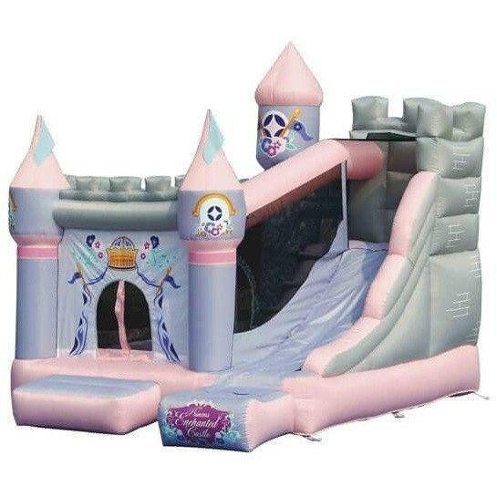 Princess Enchanted Castle Bounce House with Slide-KidWise-YardKid