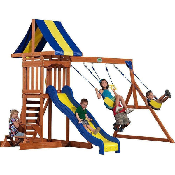 Providence Wooden Swing Set-Backyard Discovery-YardKid