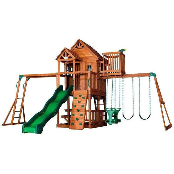 Skyfort II Wooden Swing Set-Backyard Discovery-YardKid