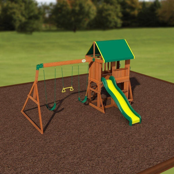 Somerset Wooden Swing Set by Backyard Discovery ...