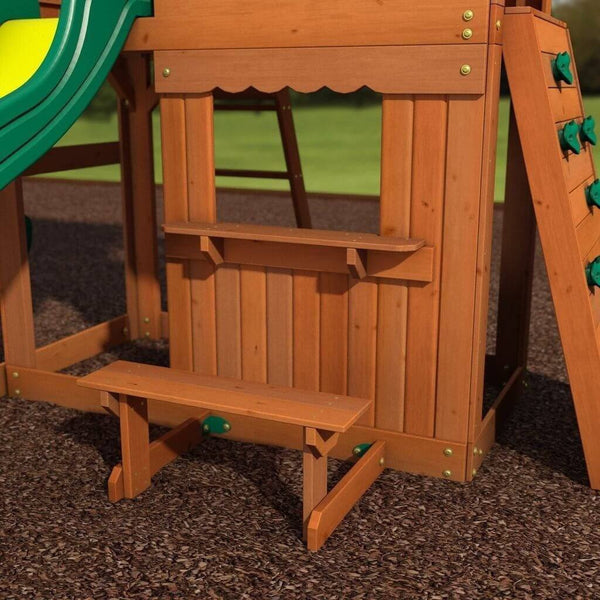 Somerset Wooden Swing Set By Backyard Discovery 752113650923 Yardkid