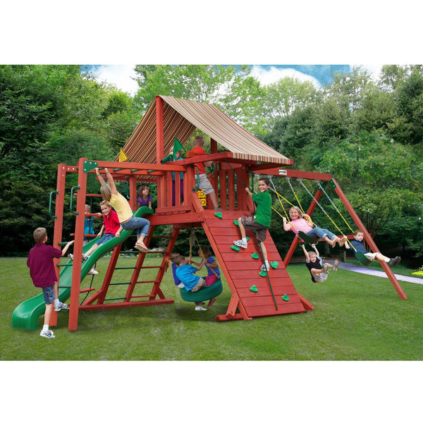 Sun Climber II Swing Set - Various Roofs-Gorilla Playsets-YardKid