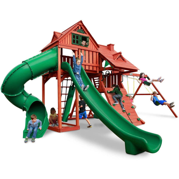 Sun Palace Deluxe Swing Set-Gorilla Playsets-YardKid