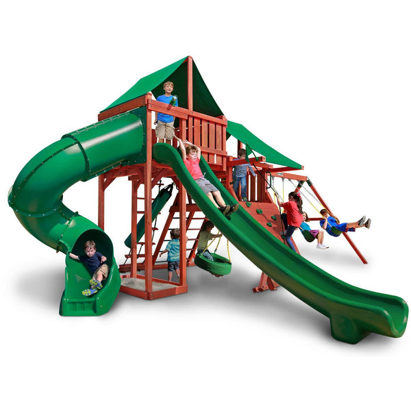 Sun Valley Deluxe Swing Set-Gorilla Playsets-YardKid