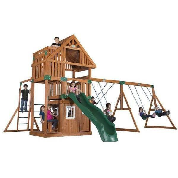 Wanderer Wooden Swing Set-Backyard Discovery-YardKid