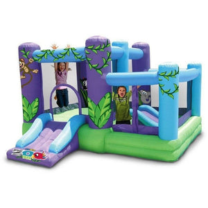 Zoo Park Bounce House with Slide and Ball Pit